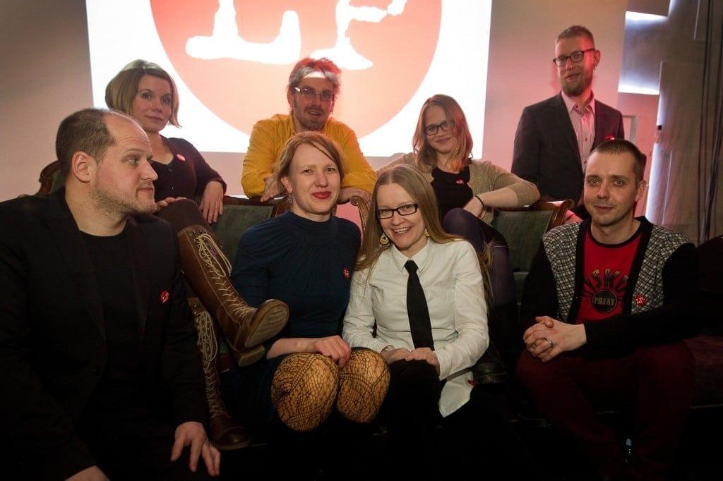 Top left: Hanna Nikkanen, Ilkka Karisto, Anu Silfverberg, Ilkka Pernu. Bottom row: Antti Järvi, Reetta Nousiainen, Johanna Vehkoo, Riku Siivonen.