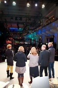 Voitto julkistettiin Slush-tapahtuman päälavalla. Kiitospuheen piti Long Playn Reetta Nousiainen.